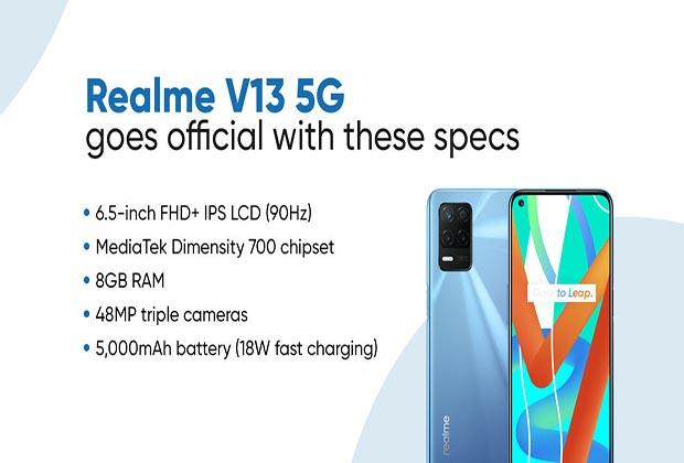 مواصفات وسعر و مراجعة مميزات و عيوب هاتف Realme V13 5G