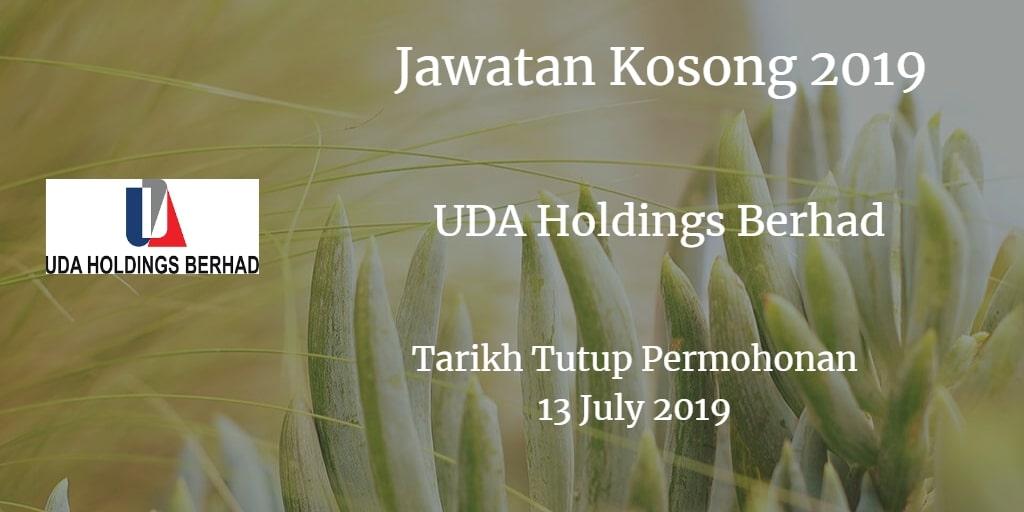 Jawatan Kosong UDA Holdings Berhad 12 July 2019