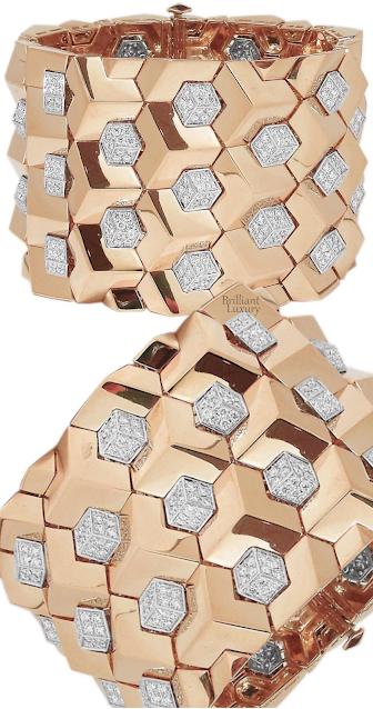 Paolo Costagli 18ct Brilliante rose gold bracelet with diamond detail #brilliantluxury