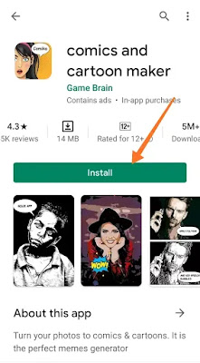 Comics and Cartoon Maker app Dowanlod