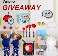 Logo Vinci gratis uno dei premi Anpro 32 pezzi Kids Kitchen