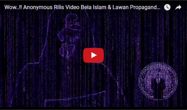 Anonymous Rilis Video Bela Islam & Lawan Propaganda Media dengan Tagar Opislam