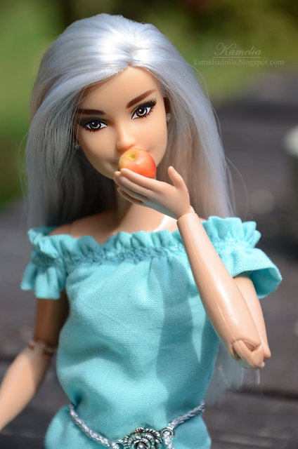 Turquoise summer dress for Barbie doll