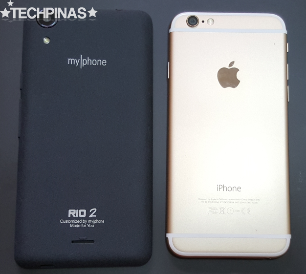 MyPhone vs Apple, MyPhone Rio 2 vs Apple iPhone 6
