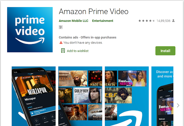 amazon prime app for tv