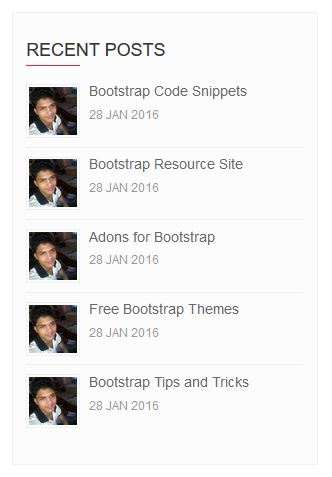 Bootstrap Recent Post