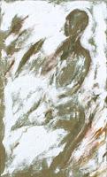 29 - La déesse-mère - © Edith Smets - 90/150 - huile sur toile de jute