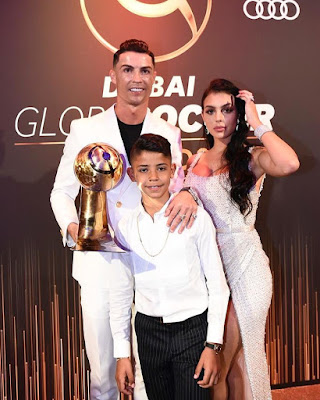 Cristiano Ronaldo Receives Men's Best Player Award at The Just Ended Globe Soccer Awards In Dubai