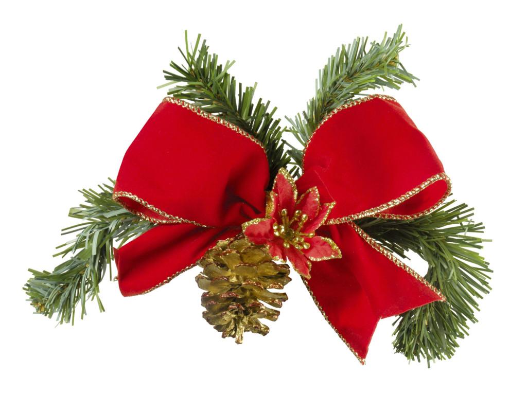 Decoration Noel Noeud Rouge