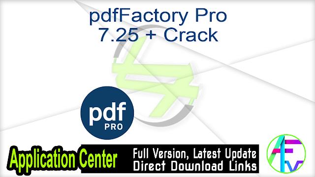 pdfFactory Pro 7.25 + Crack