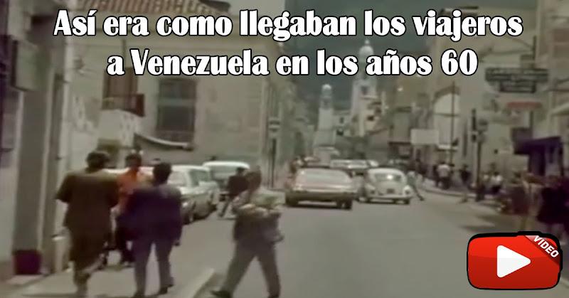 Viajeros llegando a Caracas en 1972 - Imágenes sorprendentes!
