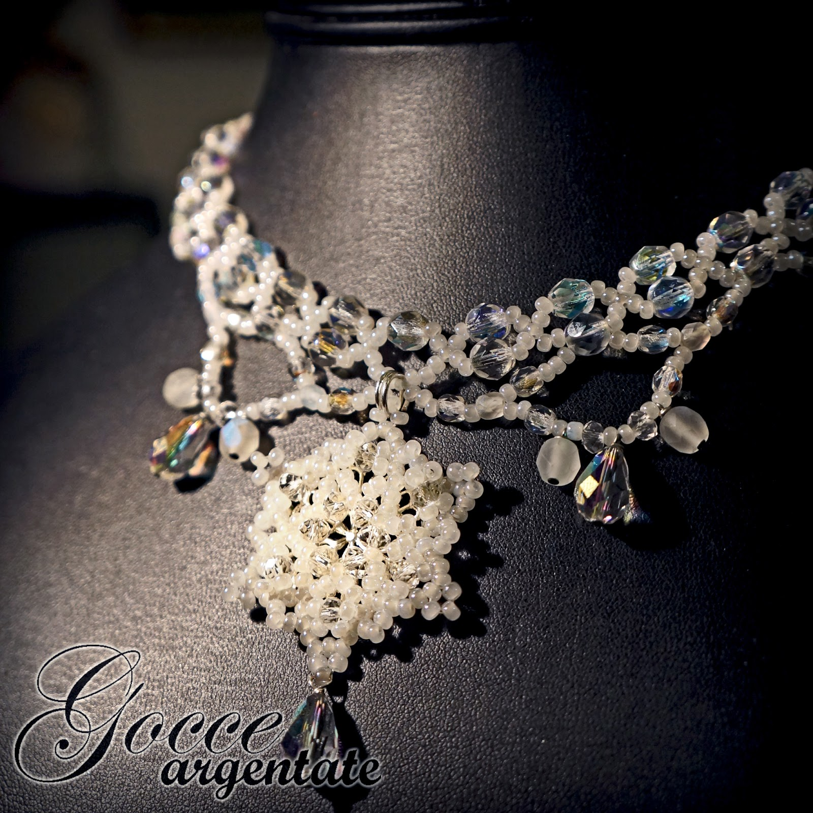 Snow Queen Diamontrigue Jewelry: Gocce Argentate: Snow Queen Necklace