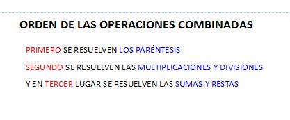 Jerarquía de operaciones combinadas
