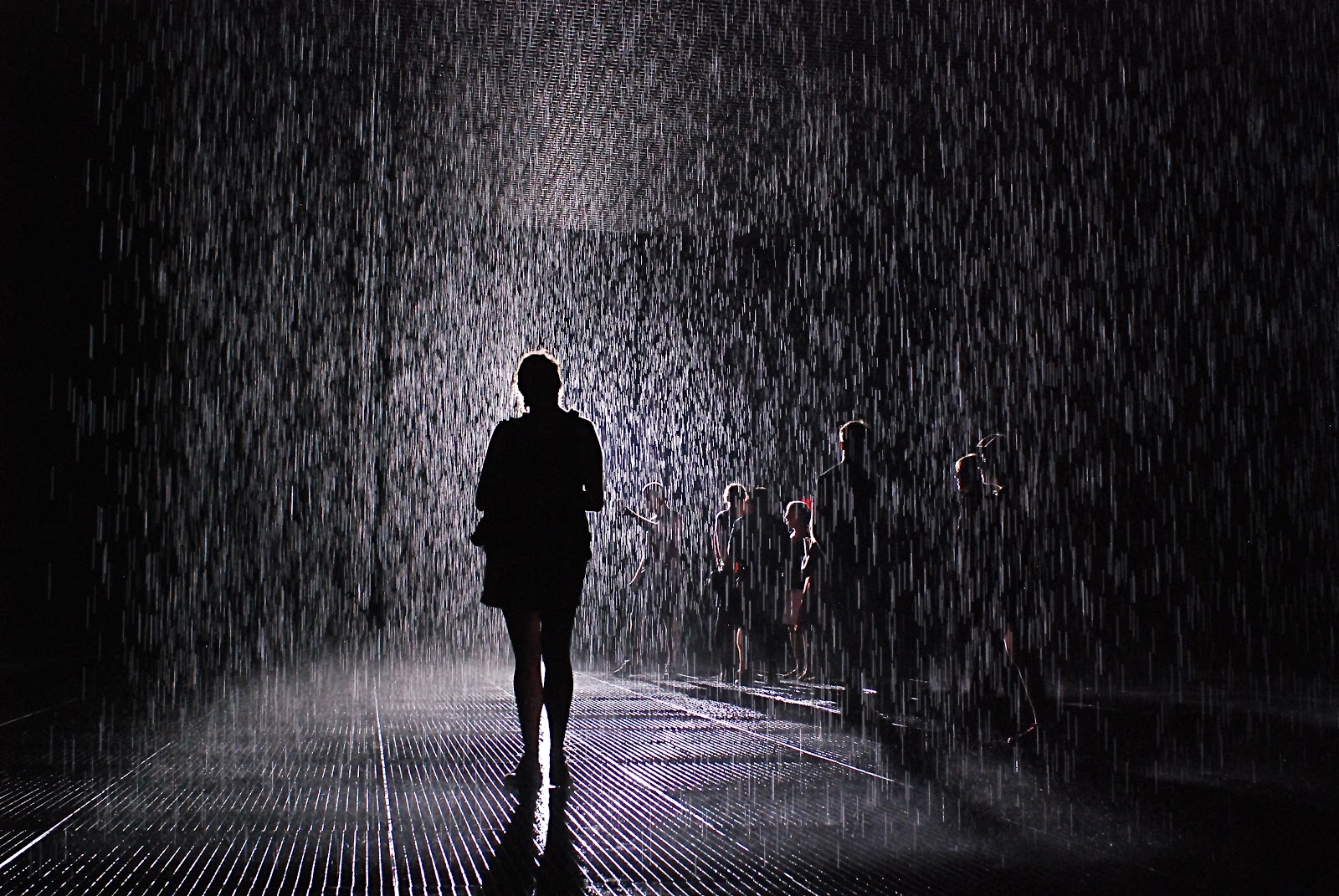 Nyc Nyc Rain Outside And Inside Quot Rain Room Quot Art