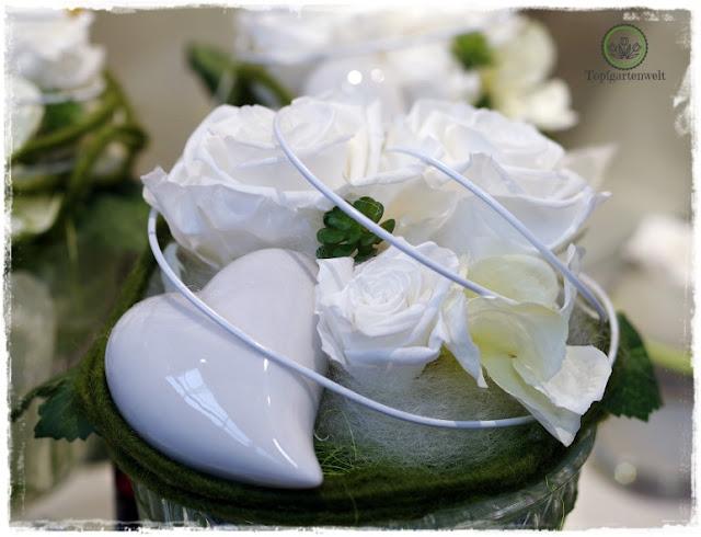 Gartenblog Topfgartenwelt Eröffnung Gartencenter Dehner Salzburg: Hochzeitsfloristik mit Longlife Rosen