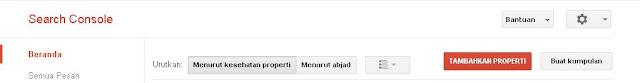 Cara menambahkan situs ke webmaster tool