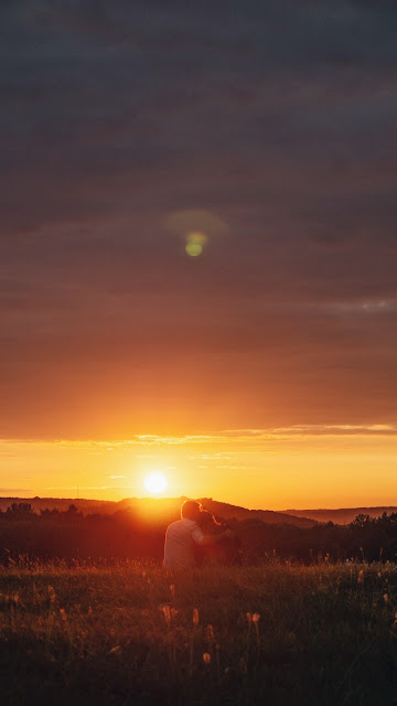 Amor, Casal, Pôr Do Sol, Ternura