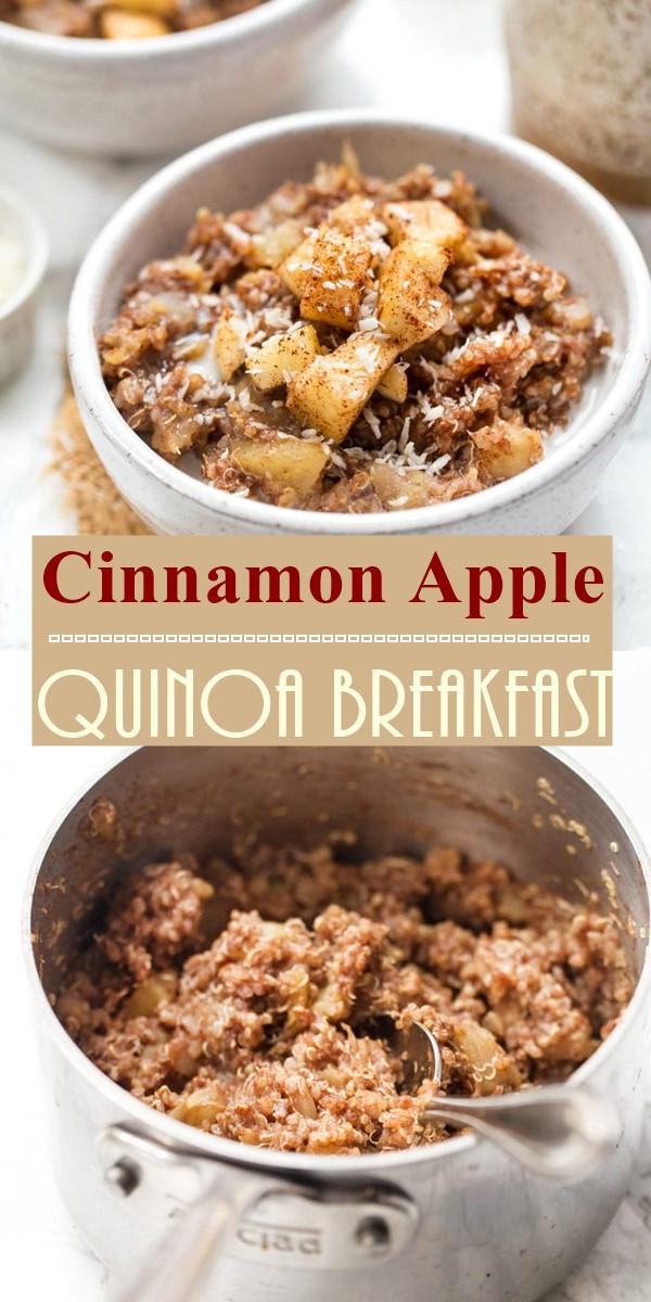 Cinnamon Apple Quinoa Breakfast #Breakfastideas