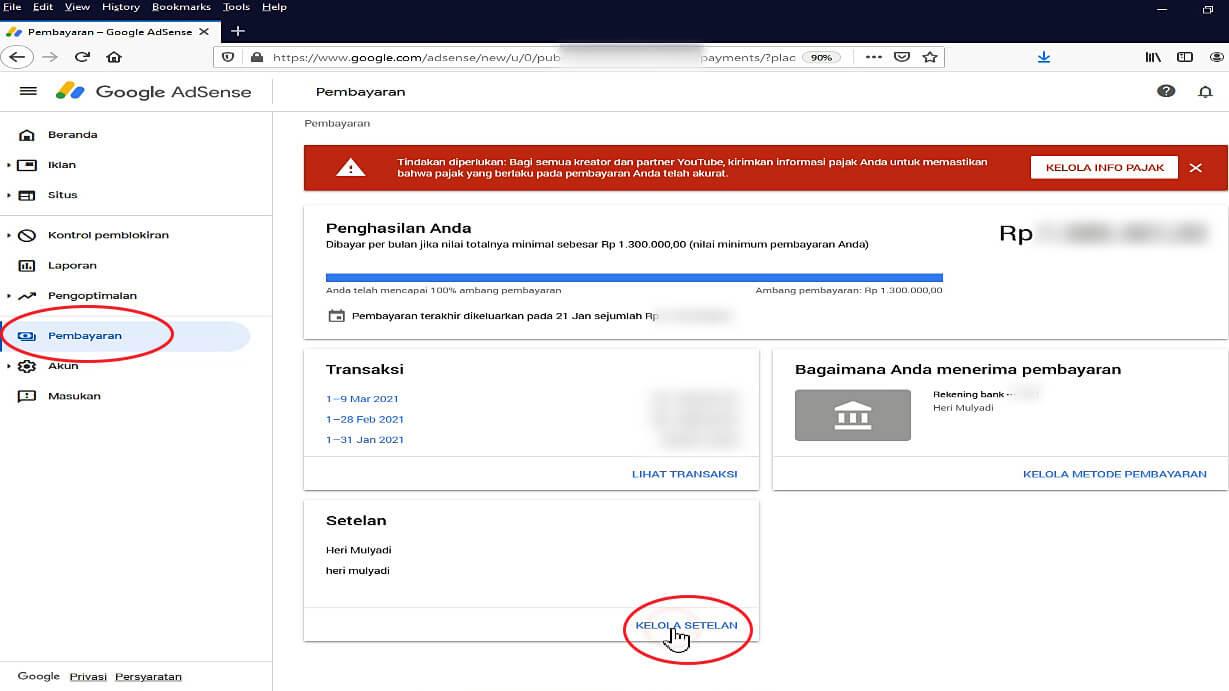 Mengirimkan Informasi Pajak ke Google 2