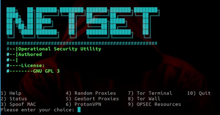 NetSet :  Operational Security Utility & Automator