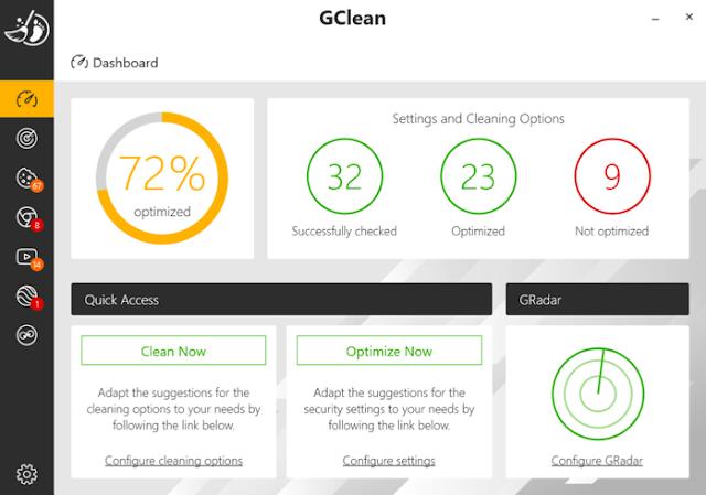 Screenshot Abelssoft GClean 2020 v220.1.12 Full Version