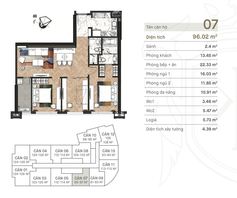 Thiết kế căn hộ 07 chung cư King Palace