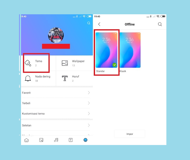 Kembalikan ke Tema Standar Agar Font Xiaomi Default