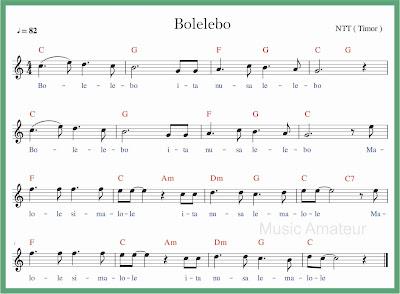 not balok lagu bolelebo