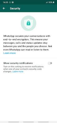 الخصوصية في تطبيق واتساب