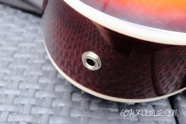 Epiphone Hummingbird Tenor Ukulele jack socket