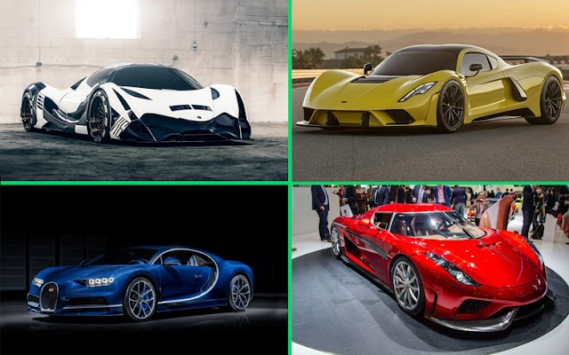 Fastest cars in the world 2021