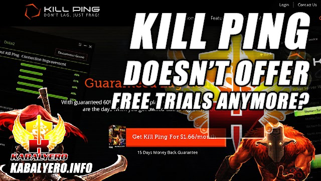 Kill Ping, A WTFast Alternative, Doesn't Offer Free Trials