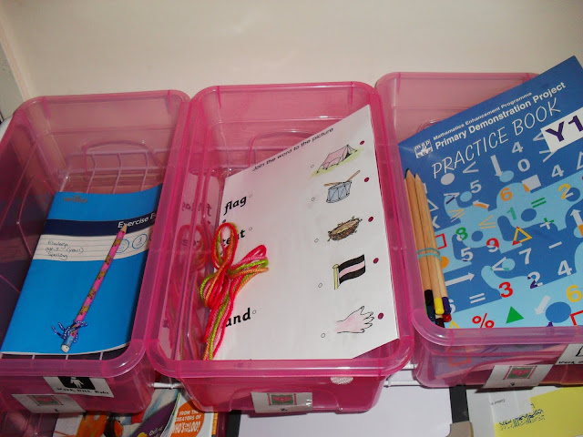 whats in our workboxes for homeschool