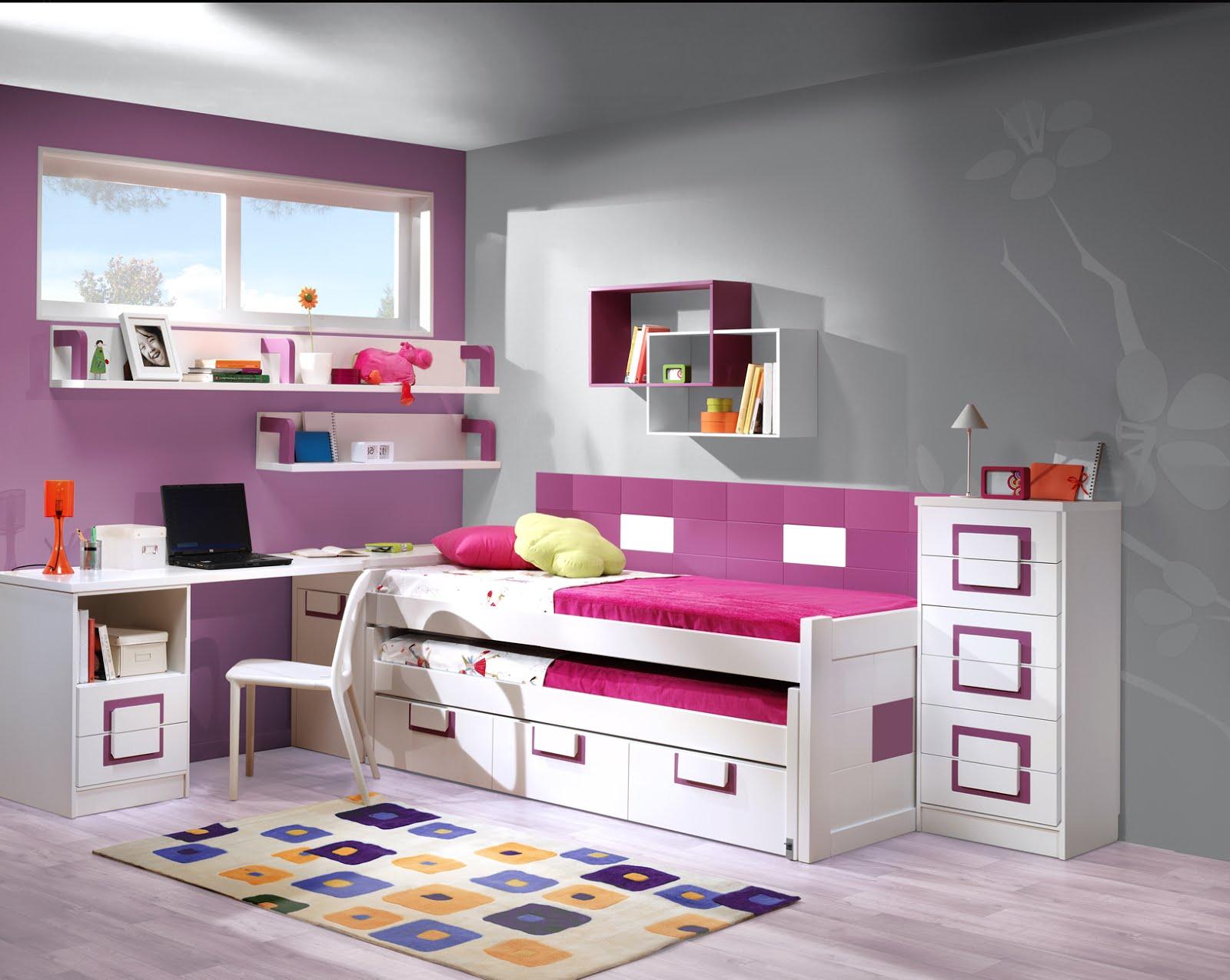 Habitacion juvenil para 2 compuesta por 2 camas con - Mueble infantil madrid ...
