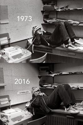 Bức ảnh Bill Gates tái hiện bản thân vào năm 1973