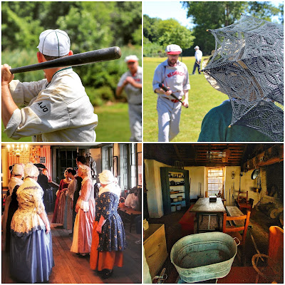 Oldtime baseball, and other pre-COVID activities at New Bridge Landing