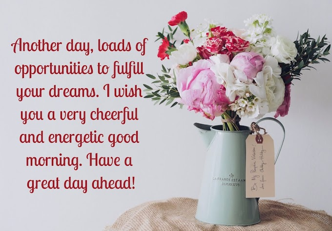 Most Beautiful Good Morning Messages in English | Good Morning Quotes, Status and Wishes
