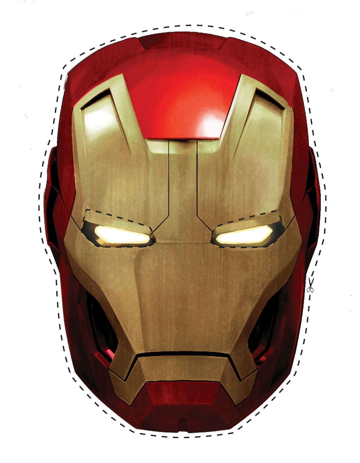 picture regarding Iron Man Mask Printable called Totally free Printable Iron Person Mask. - Oh My Fiesta! for Geeks