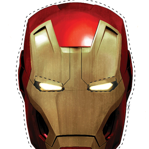 photograph relating to Iron Man Mask Printable named Iron Person within Pink and Gold: Absolutely free Printable Sweet Paper Bag