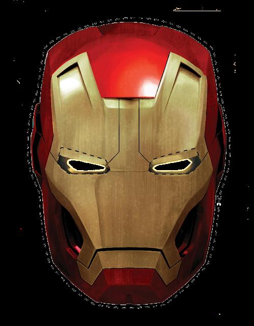 Iron Man: Máscara para Imprimir Gratis.