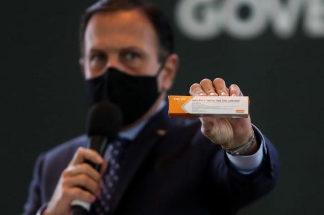 Brasileiros estarão vacinados contra o coronavírus até fevereiro, diz Doria
