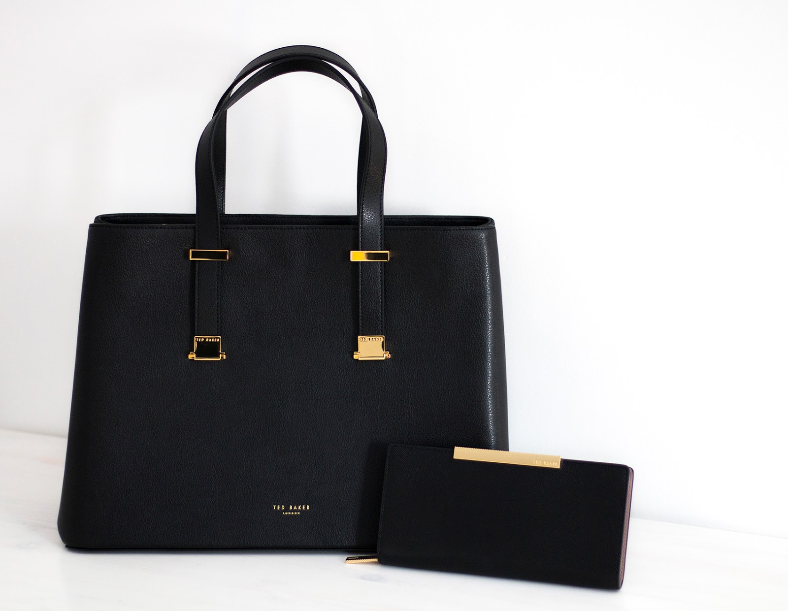 Black Ted Baker handbag and purse