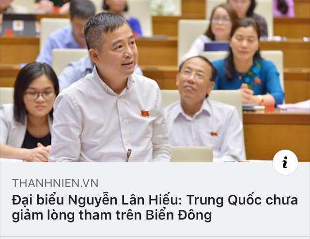 Đại biểu Nguyễn Lân Hiếu: Trung Quốc tàn phá đất nước Việt Nam..., chúng ta có thể kiện TQ về Biển Đông