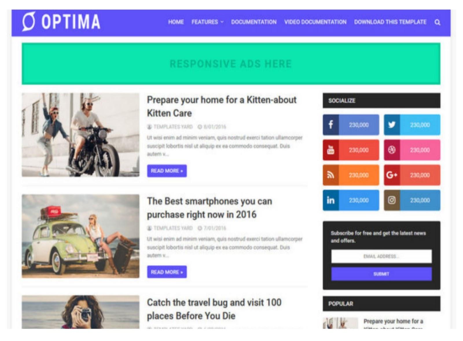 Optimized Blogger Template