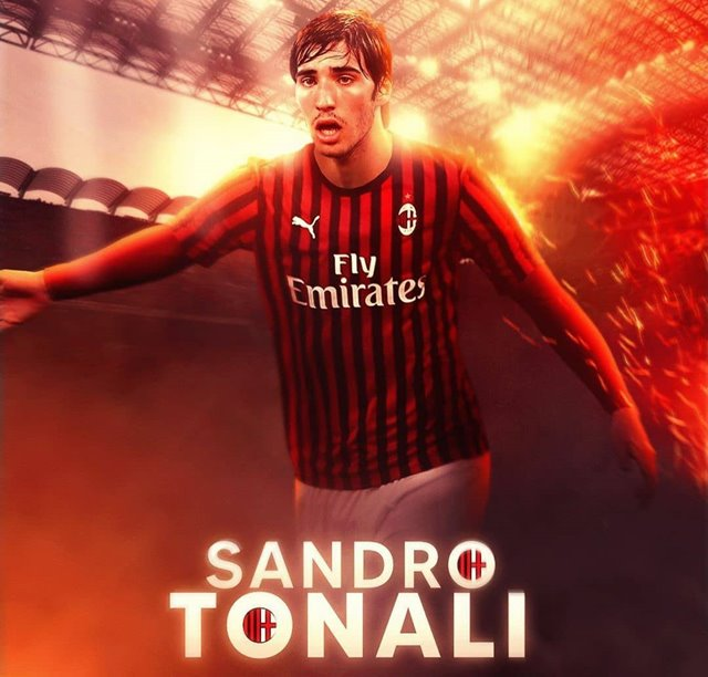 Sandro Tonali Gelandang Baru AC Milan -IGacmilanfans_vzla