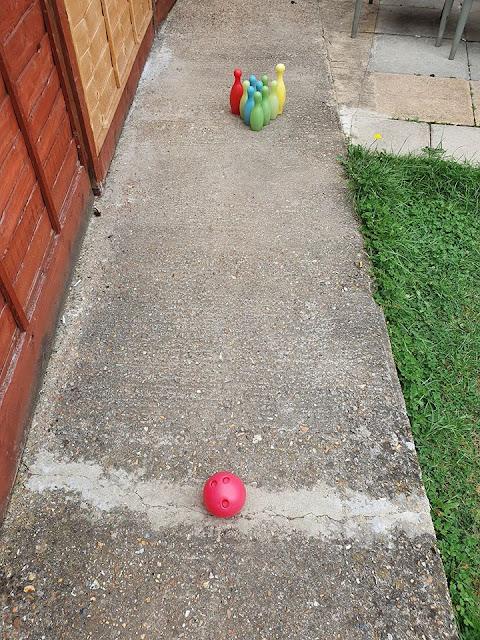 Kids bowling set.