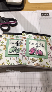 Covered notebook. Thank you Gift. StampinUp. Share What You Love