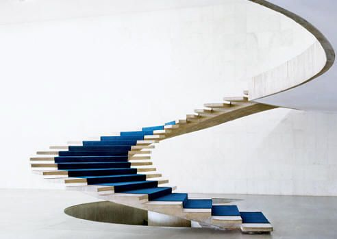 Spiral floating Staircase design