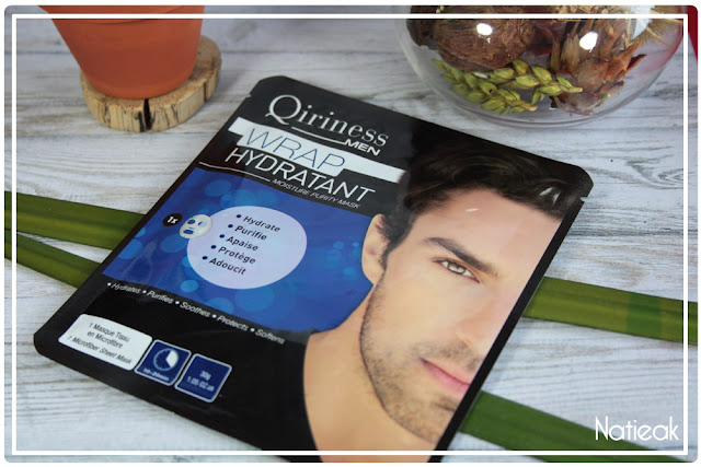 Wrap hydratant de Qiriness Men