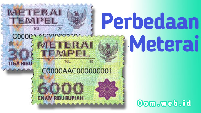 Beda Meterai 3000 dan 6000